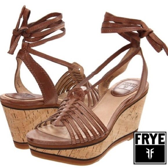 3fe31b2c50d26 New Frye Carlie Strappy Wedge Sandal Women s Sz 8